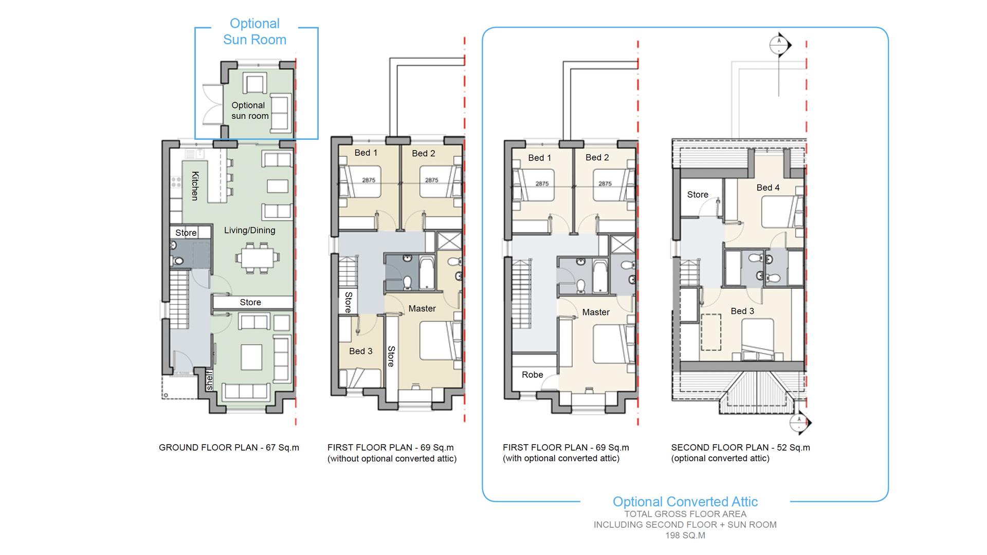 House type B3 - 4 bedroom semi-detached